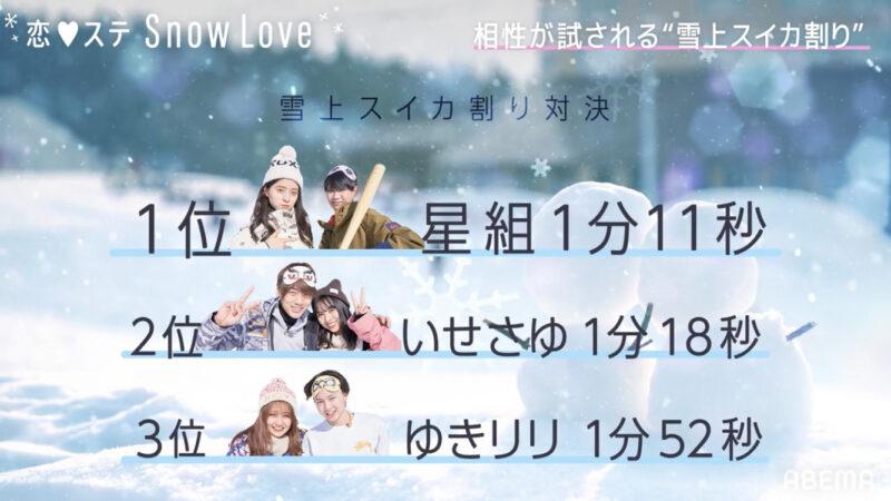 【恋ステSnow Love】 第3話ネタバレ画像2